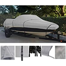 GREY, STORAGE, TRAVEL, MOORING BOAT COVER FOR XPRESS ALUMAWELD X-54 BASS 2004 2005 DURABLE