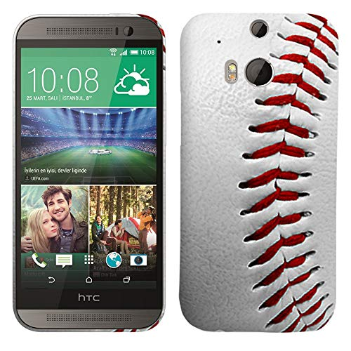 Glisten - Designer Hard Plastic Case for HTC One M8 - Baseball Pattern Printed Slim Profile Cute Snap On Back Cover