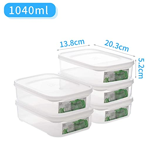 Paquete de 5 contenedores de Almacenamiento de Alimentos ...