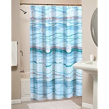 Amazon Coastal Seaside Cottage Print Pattern Ocean Blue Fabric