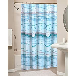 519q%2B2C3Z0L._SS300_ 200+ Beach Shower Curtains and Nautical Shower Curtains