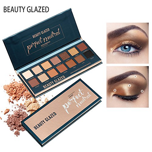 Beauty Glazed New 14 Color Ultra Pigmented Eyeshadow Matte and Shimmer Palette Makeup Powder