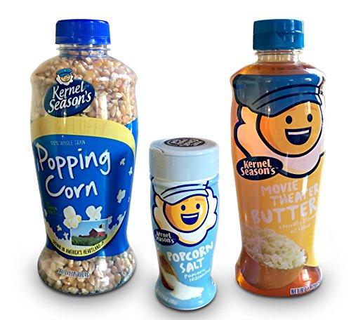 Kernel Seasons Popcorn, Kernel Seasons Popcorn Seasoning, Kernel Seasons Movie Theater Butter Popping Oil - 3 Item Bundle