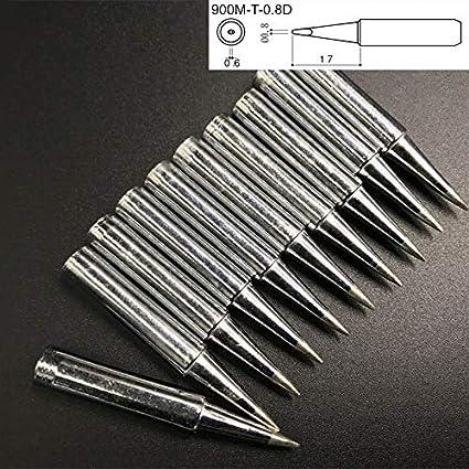 10 PCS Little D Type Puntas de soldador de soldadura eléctrica sin plomo