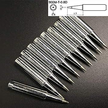 10 PCS Little D Type Puntas de soldador de soldadura eléctrica sin plomo: Amazon.es: Bricolaje y herramientas