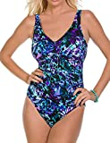 Magic Suit Magicsuit by Miraclesuit DD-Cup Chasing Butterflies Yasmin Tie Front One Piece Swimsuit (8, Purple)