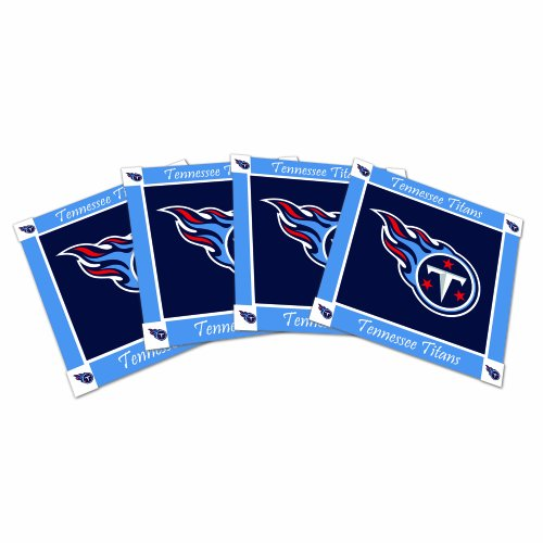 NFL Tennessee Titans 4pk Ceramic Coasters (Titans Ceramic Nfl Tennessee)
