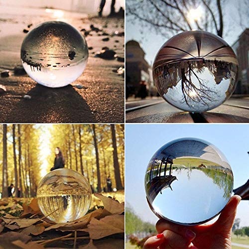 lass Crystal Ball, Healing Sphere Photography Cool Magic Props Lens Ball Decor Gift, Transparent Crystal Ball Decoration Office Home Xmas Decor (Approx.50mm) ()