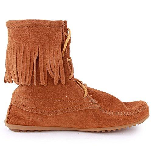 marrón Botas mujer para Minnetonka marrón twxBdv7tq