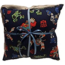 Rescue Bots Pillow And Blanket Transformers Pillow and Blanket HANDMADE In USA Pillow Set