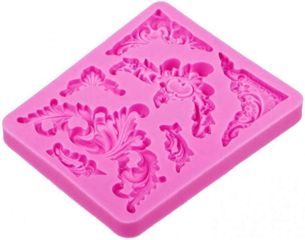Byfri Alimentaire Moule Silicone 3D Fondant g/âteau en Forme de Dentelle de qualit/é en p/âte polym/ère Chocolat Fabrication de Bonbons Outils de d/écoration