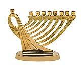 Biedermann & Sons Brass Harp Design Menorah Candle