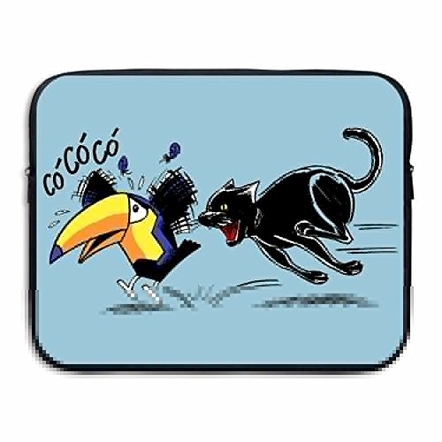 Reteone Laptop Sleeve Bag Black Cat Catch Toucan Art Cover Computer Liner Package Protective Case Waterproof Computer Portable Bags]()