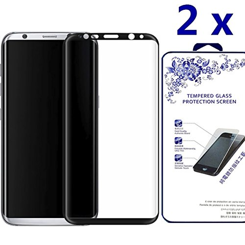 Samsung Galaxy S8 Plus Screen Protector, Nacodex [2 Pack] [Full Cover] Tempered Glass with Lifetime Replacement Warranty