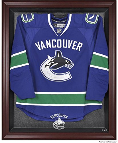 Nhl Vancouver Canucks Framed (Vancouver Canucks Mahogany Framed Logo Jersey Display Case)