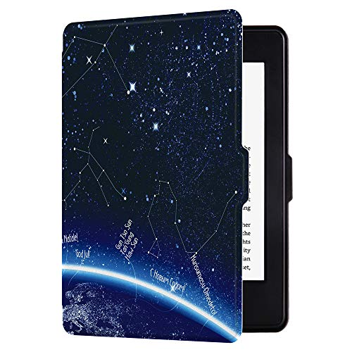 Huasiru Painting Case for Kindle Paperwhite, Galaxy - fits All Paperwhite Generations Prior to 2018 (Will not fit All-New Paperwhite 10th Generation)