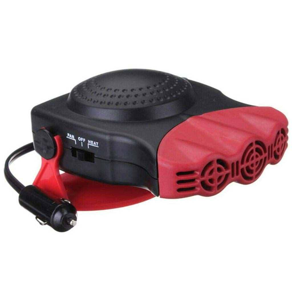 QCJRCSQ 2 in 1 12V 150W Auto Car Stufa elettrica Riscaldamento Ventilatore con Altalena in Fuori la Leva di Raffreddamento 3-Outlet sbrinamenti Defogger