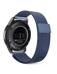 Gear S3 Watch Band, MoKo Milanese Loop Stainless Steel Bracelet Smart Watch Strap for Samsung Gear S3 Frontier / S3 Classic / Moto 360 2nd Gen 46mm Smartwatch, BLUE (NOT FIT S2 & S2 Classic & Fit2)