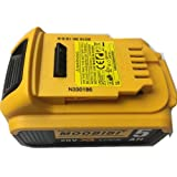 Replacement battery for Dewalt DCB205-20V MAX XR 5.0Ah Lithium Ion Battery for cordless tools High capacity compatible with all new style Dewalt 20V tools