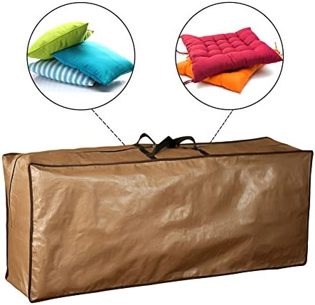 Abba Patio Outdoor Rectangular Cushion Cover Storage Bag, Protective Zippered Storage Bags with Handles, 79 L x 30 W x 24 H