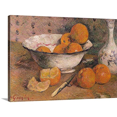 (GREATBIGCANVAS Gallery-Wrapped Canvas Entitled Still Life with Oranges, 1881 by Paul (1848-1903) Gauguin 60