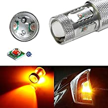 iJDMTOY Amber No Resistor Required 30W High Power CREE 7440 7444 T20 LED Bulbs For Front or Rear Turn Signal Lights