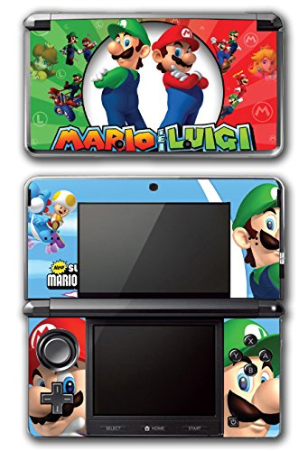 Bros Super Game Mario Original (Mario and Luigi Bros Super Hero Golf Kart Smash Video Game Vinyl Decal Skin Sticker Cover for Original Nintendo 3DS System)