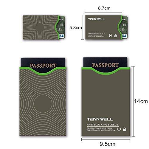 amazon tenn well rfidスリーブ スキミング防止カードケース 10枚