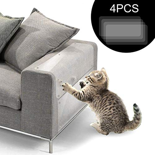 Vankcp Cat Furniture Protector, 4pcs Clear Cat Scratching Protector for Sofa Furniture (18'' x 8'') ()