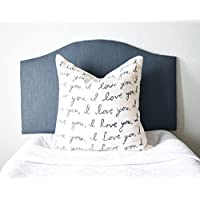 Dorm Headboard, Twin or Twin XL, Camelback with Charcoal Linen