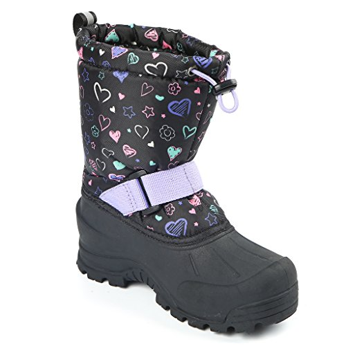 Northside Frosty Winter Boot (Toddler/Little Kid/Big Kid),Black/Purple,Size 11 Medium US Little Kid