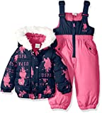 U.S. Polo Assn. Baby Girls' Snow Suit (More Styles Available),  Navy B,  12M
