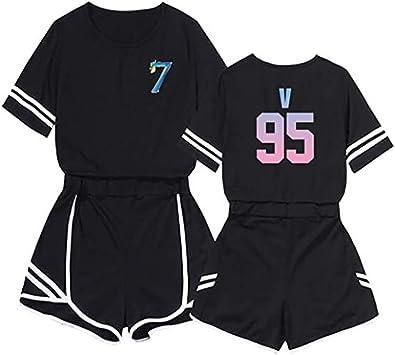 ZYPPX Kpop BTS - Camiseta y pantalón corto con diseño de mapa ...