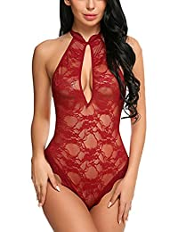 Avidlove One Piece Lace Babydoll Sexy Lingerie Women Teddy Mini Bodysuit