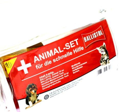 Ballistol Animal-Set Erste Hilfe Kasten für Tiere in praktischer Tasche