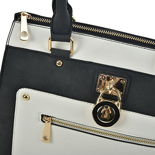 Young With Ladies Zip Women's Detail Bag Women Bam Tote Contrast Sally Fashion wxO6dAqwB
