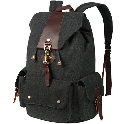 Vbiger Canvas Backpack Casual Shoulder Bag Large Capacity Travel Daypack for Men and Women ()