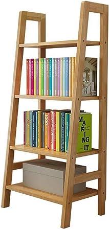 Jcnfa-Estante Estante Portátil De La Escalera Estante Escalera Inclinada Estante De Pared Organizador De Libros Artísticos Organizador De Almacenamiento, Cuatro Colores: Amazon.es: Hogar