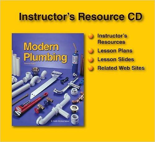 Modern Plumbing Teacher Resource CDROM E Keith Blankenbaker – Plumbing Lesson Plans