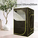 "Voilamart Hydroponic Grow Tent , 47"" x 47"" x 78"" Indoor Reflective Waterproof Grow Tent with Removable Floor Tray for Indoor Plant Fruit Herb Growing"