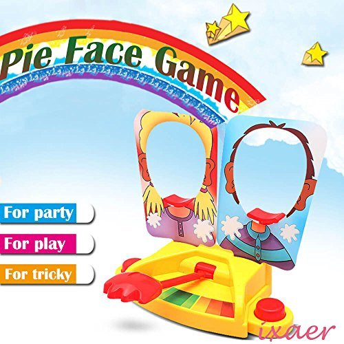 ixaer Pie Face Game Tricky Toys Double Cream Face Mask Family Game for Children Rocket Gaming Family Kids Children Novelty Toys - Double Face Toy