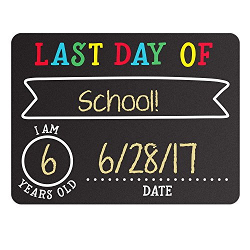 Pearhead First and Last Day of School Photo Sharing Chalkboard Signs; The Perfect Back to School Chalkboard Sign to Commemorate The First Day of School, Set of 2 by Pearhead (Image #2)