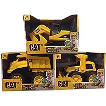 CAT Tough Tracks Toy Construction Set (Excavator, Front-end Loader, Dump Truck)