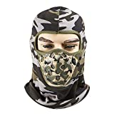Fleece Lined Balaclava ,Breathable Winter Windproof Ski Face Mask, Tactical Hat and Neckwarmer for Winter Sports by REDESS (Multicam Gray)
