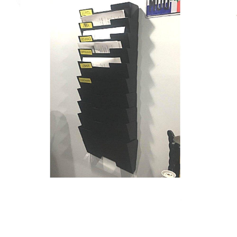 Mail Organizer Wall Mount HangingFileHolder Slot Tier Shelving Magazine Steel Shelf Document Filing Holder 10 Rack Mesh Desk Multi-Purpose Mounted Office Document Sorter & eBook by OISTRIA