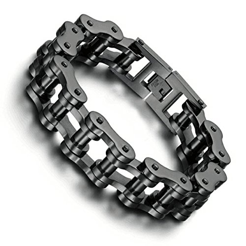 XINSTAR New Jewelry Heavy Chunky Cuban Link Chain Bracelet Stainless Steel Silver Color Brushed Matte Bracelet Men Accessory Gift9.5''