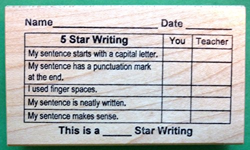5-Star Writing Grid, Teacher's Rubber Stamp (Teacher Rubber)