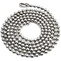 10pcs Pull Chain Extension 30 Inch Long 3.2mm Bead Size # 6 Ball Chain Necklace , Military Dog Tags bead chain with Matching Connector By Special100%