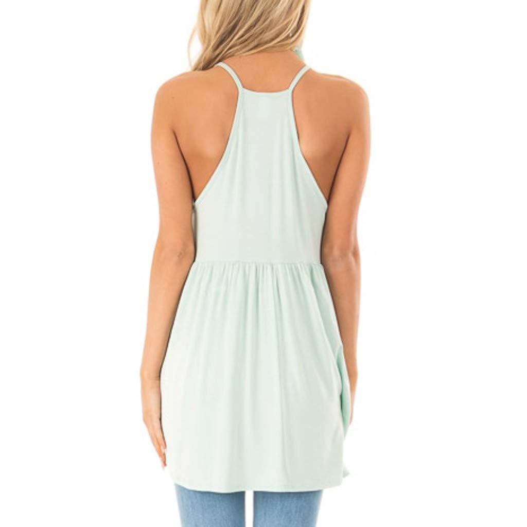 Daylin Womens Lady Dress Vest Tank Top Blouse Patchwork Irregular Sleeveless Lace Fold Summer