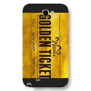 UniqueBox Willy Wonka Custom Phone Case for Samsung Galaxy Note 2, DC comics Willy Wonka Customized Samsung Galaxy Note 2 Case, Only Fit for Samsung Galaxy Note 2 (Black Frosted Shell) WANGJING JINDA